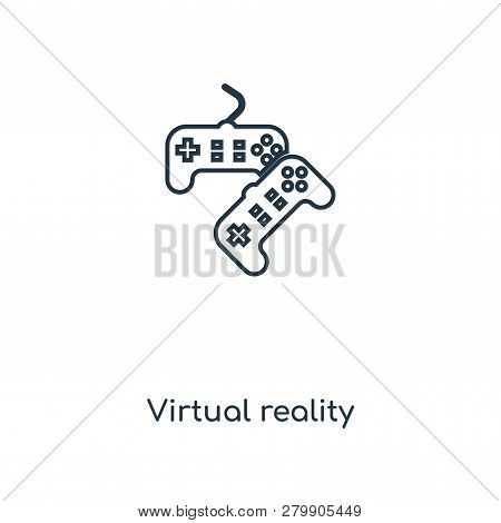 Virtual Reality Icon In Trendy Design Style. Virtual Reality Icon Isolated On White Background. Virt