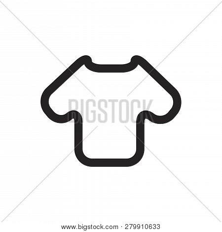 Shirt Vector Icon On White Background. Shirt Icon In Modern Design Style. Shirt Vector Icon Popular