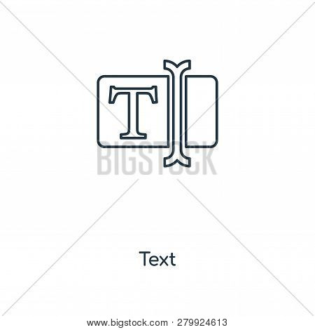 Text Icon In Trendy Design Style. Text Icon Isolated On White Background. Text Vector Icon Simple An