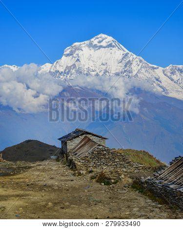 Beautiful Snow Peaks Of Annapurna Range