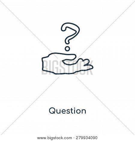 Question Icon In Trendy Design Style. Question Icon Isolated On White Background. Question Vector Ic