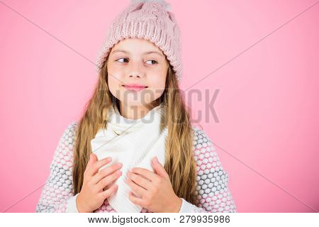 Warm Accessories That Will Keep You Cozy Winter. Child Long Hair Warm Woolen Hat Enjoy Warm And Soft