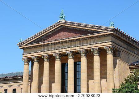 Philadelphia City, Pennsylvania Usa. Cultural Building - Philadelphia Museum Of Art.
