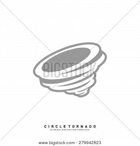 Tornado Logo Design Concept Vector Template. Hurricane Logo Vector Icon