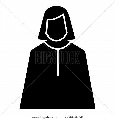 Female Judge Icon. Simple Illustration Of Female Judge Icon For Web Design Isolated On White Backgro