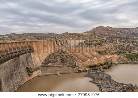 Wall Of The Vanderkloof Dam In The Orange River On The Border Of The Free State And Northern Cape Pr