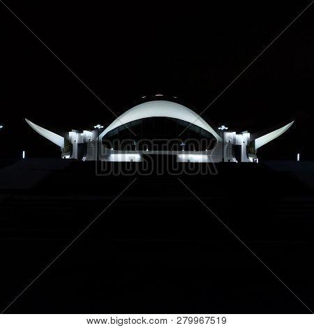 Building Of The Exhibition Complex Belexpo. Belarus, Minsk, Prospekt Pobediteley 14. 01/01/2019