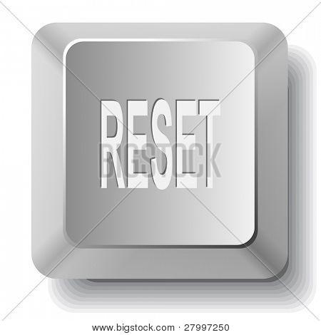 Reset. Vector computer key.