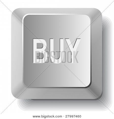 Buy. Vector computer key.