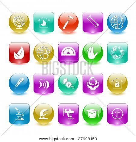 Raster set of interface elements