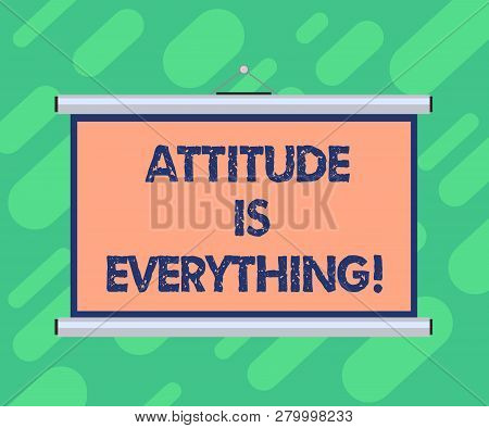 Conceptual Hand Writing Showing Attitude Is Everything. Business Photo Showcasing Understanding Pers
