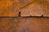 Old iron sheets with rust as background poster