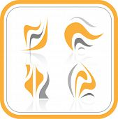 Vector abstract internet icons. Orange set. Simply change. Other abstract icons you can see in my portfolio. poster