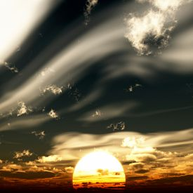 Sunset sky - 3d rendering