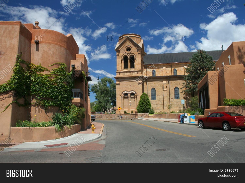 Old Town Santa Fe >> Old Santa Fe Image Photo Free Trial Bigstock