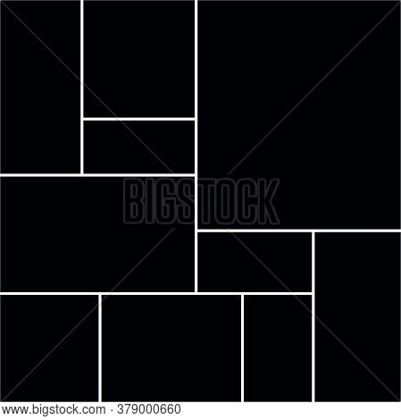 Collage Frames Boards. Vector Frames Templates Collage For Photo Or Illustration.
