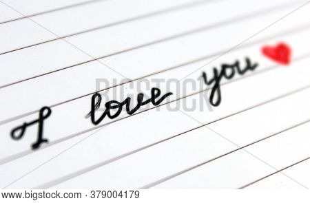Close-up Handwritten Phrase