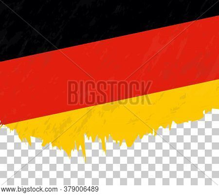 Grunge-style Flag Of Germany On A Transparent Background. Vector Textured Flag Of Germany For Vertic