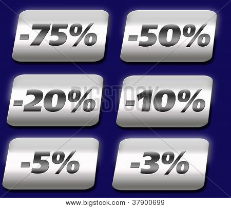 Vector discount buttons