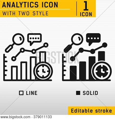 Performance Analytics Linear Icon Concept. Performance Analytics Line Vector Sign, Symbol. Graph Out