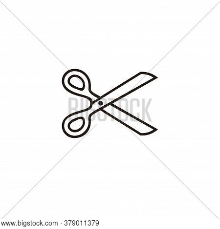 Scissor Icon Isolated On White Background. Scissor Icon In Trendy Design Style For Web Site And Mobi