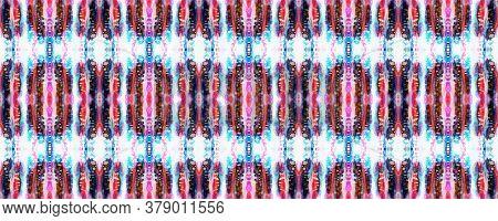 Tie Dye Abstract Texture. Red, White And Blue Organic Minimal Textile. Watercolor Shoji Design. Kimo