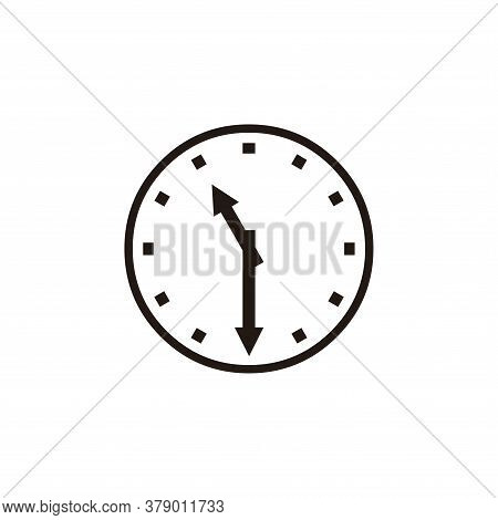 Wall Clock Icon Vector. Clock Icon Isolated On White Background. Wall Clock Icon Simple And Modern