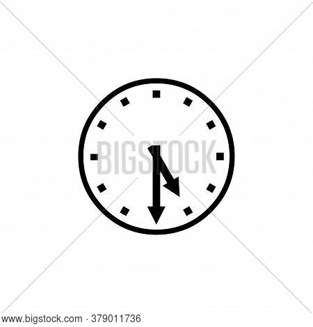 Wall Clock Icon Vector. Clock Icon Isolated On Wjite Backgroud. Wall Clock Con Simple And Modern