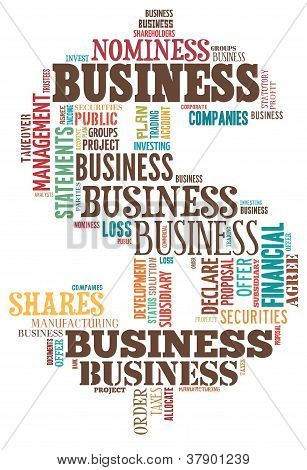 Business Related Keywords Info-text Graphic And Arrangement