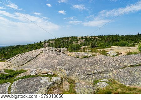 View From Top Of Cadillac Mountain In Acadia National Park