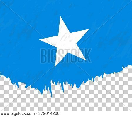 Grunge-style Flag Of Somalia On A Transparent Background. Vector Textured Flag Of Somalia For Vertic