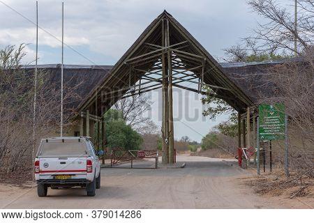 Chobe, Botswana-november  20, 2018: The Ghoha Gate Of Chobe National Park, Botswana, Africa