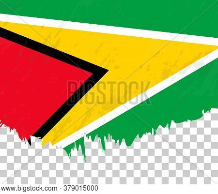 Grunge-style Flag Of Guyana On A Transparent Background. Vector Textured Flag Of Guyana For Vertical