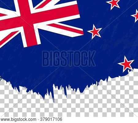 Grunge-style Flag Of New Zealand On A Transparent Background. Vector Textured Flag Of New Zealand Fo