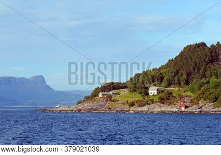 View from the board of Flam - Bergen ferry. Sognefjord, Norway, Scandinavia. Tourism and travel.