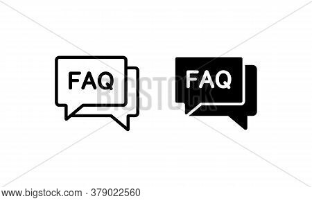Faq, Frequently Asked Questions Vector Icon. Need Help Concept. Vector On Isolated White Background.