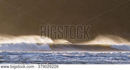 Back Light On The Waves