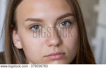 Portrait Of A Pretty Teen Girl Fifteen Year Old