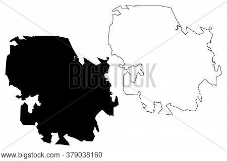 Sao Jose Dos Campos City (federative Republic Of Brazil, Sao Paulo State) Map Vector Illustration, S