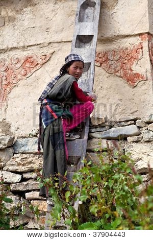 Girl from Dolpo, Nepal