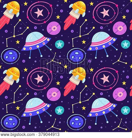 Rocket, Alien Spaceship, Planet, Star, Asteroid, Meteor, Constellation, Space Probe, Galaxy, Science