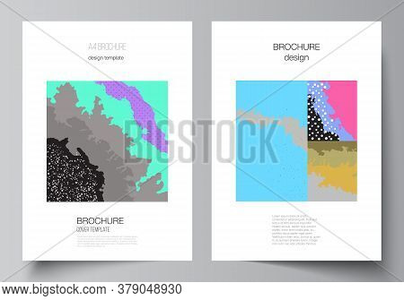 Vector Layout Of A4 Cover Mockups Design Templates For Brochure, Flyer Layout, Cover Design, Book De