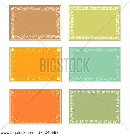 Frames For Your Creativity From Doodle Elements Arranged In A Square