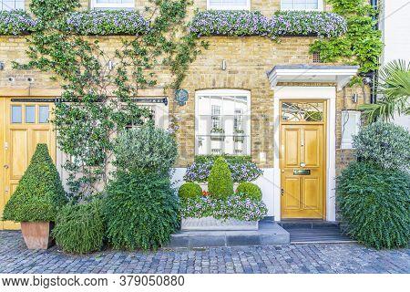 June 2020. London. Door In Belgravia, London Uk Europe