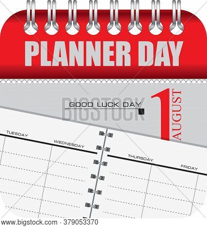 Calendar With Perforation For Changing Dates - August Planner Day