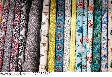 Close Up On Cotton Cloth As Background