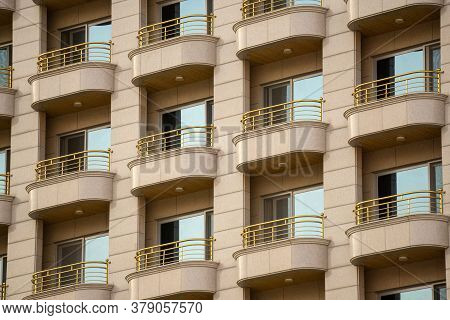 Geoje, South Korea - June 15, 2017: Line Of Terraces Of The High Residence Building In Okpo, Geoje I