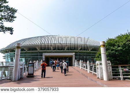 Busan,south Korea - July 20, 2017: Entrance Of The Nurimaru Apec House, The Convention Hall For 2015