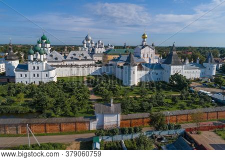 At The Rostov Kremlin On A July Morning (shooting From A Quadrocopter). Rostov The Great. Golden Rin