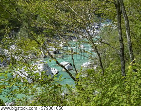 View To Famous Tolmin Canyon In Slowenia
